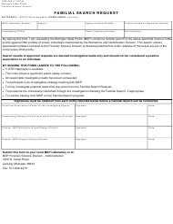 """Form FSD-053 """"Familial Search Request"""" - Michigan"""