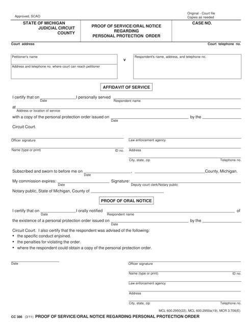 Form CC386  Printable Pdf