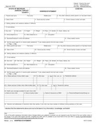 "Form FOC23 ""Verified Statement"" - Michigan"