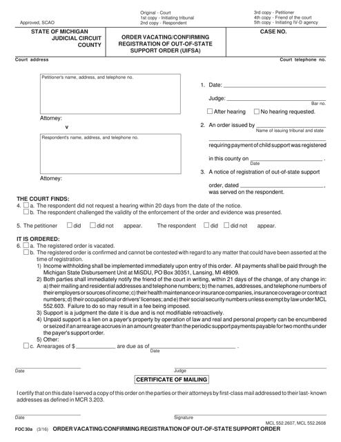 Form FOC30A  Printable Pdf