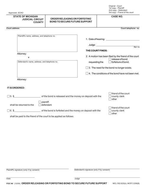 Form FOC44 Printable Pdf