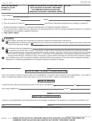 Form PCM 244 Order After Notice of Noncompliance With Assisted Outpatient Treatment or Combined Hospitalization and Assisted Outpatient Treatment Order - Michigan