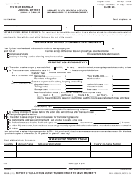 Form MC 83 Report of Collection Activity Under Order to Seize Property - Michigan