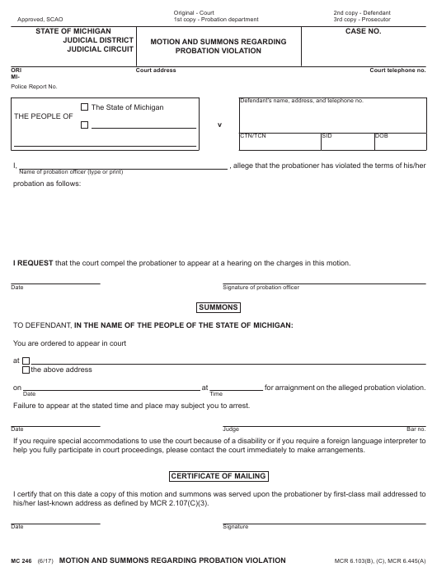 Form MC246 Printable Pdf