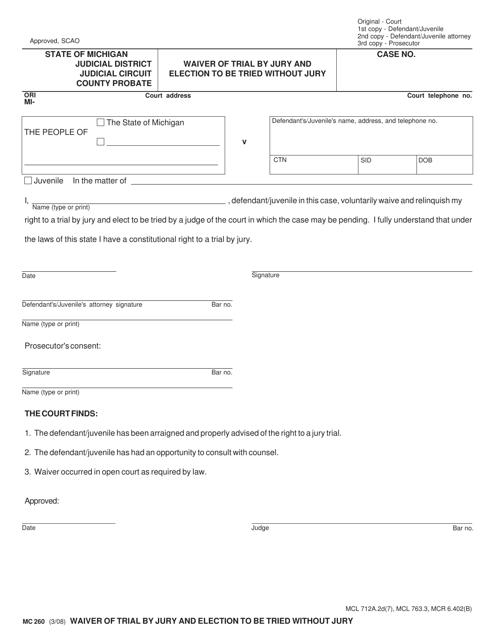 Form MC260  Printable Pdf