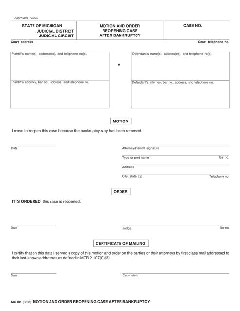 Form MC 301 Fillable Pdf