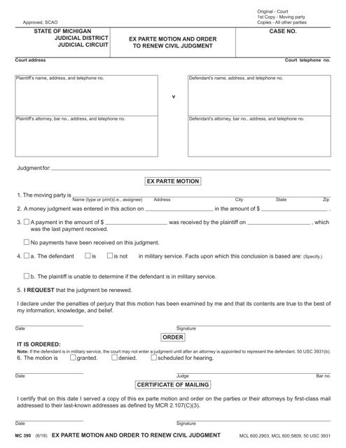 Form MC390  Printable Pdf