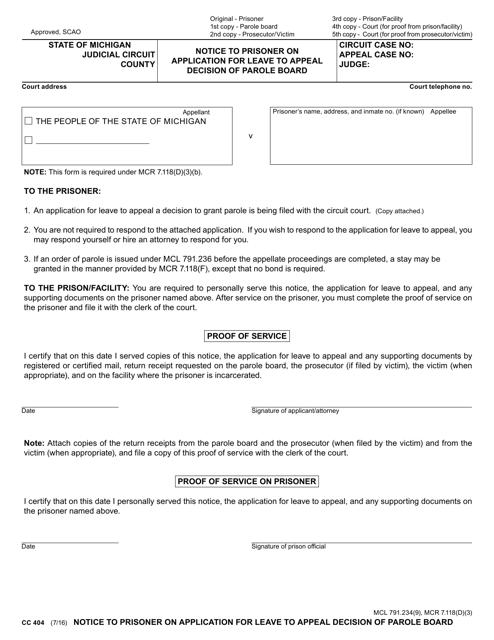 Form CC 404 Fillable Pdf