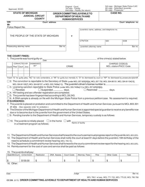 Form CC 236 Fillable Pdf