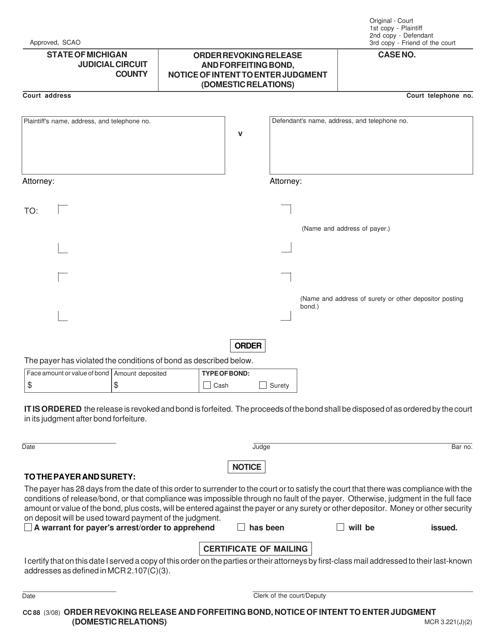 Form CC 88 Fillable Pdf