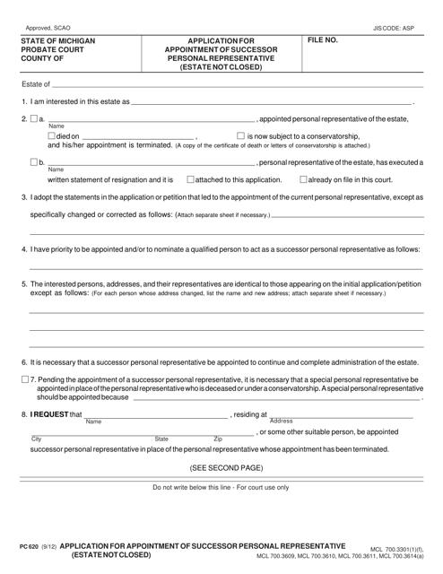 Form PC 620 Fillable Pdf