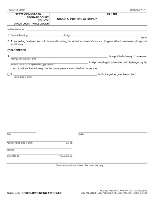 Form PC 628 Fillable Pdf