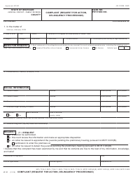 Form JC 01 Complaint (Request for Action, Delinquency Proceedings) - Michigan