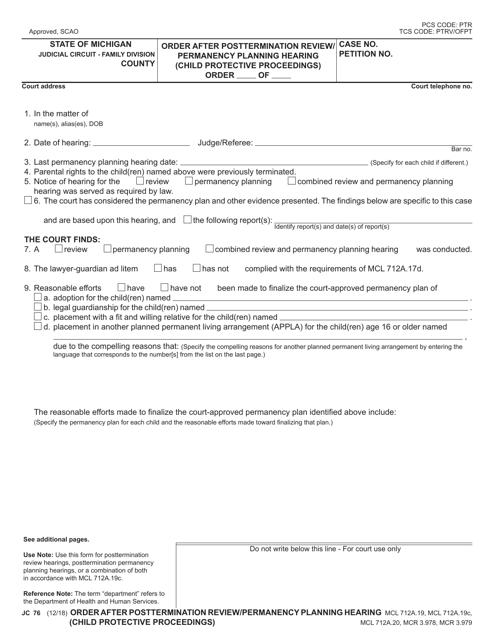 Form JC 78 Fillable Pdf
