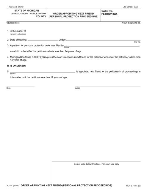Form JC88  Printable Pdf