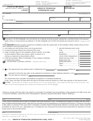 "Form JC74 ""Order of Probation (Designated Case)"" - Michigan"
