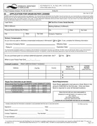 """Form AG-00960 """"Application for Grain Buyer License"""" - Minnesota"""