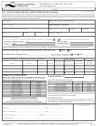 """Form AG-00883 """"Application for Buy and Store Grain License"""" - Minnesota"""