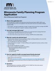 "Form DHS-4740-ENG ""Minnesota Family Planning Program Application Form"" - Minnesota"