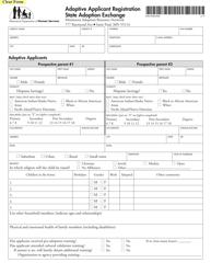 "Form DHS-0968-ENG ""Adoptive Applicant Registration - State Adoption Exchange"" - Minnesota"