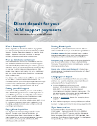 """Form DHS-3371-ENG """"Child Support Direct Deposit Authorization Form"""" - Minnesota"""