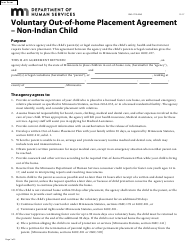 """Form DHS-1776-ENG """"Voluntary out-Of-Home Placement Agreement - Non-indian Child"""" - Minnesota"""