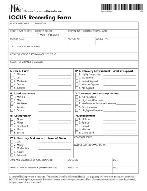 Form DHS-6249-ENG  Printable Pdf