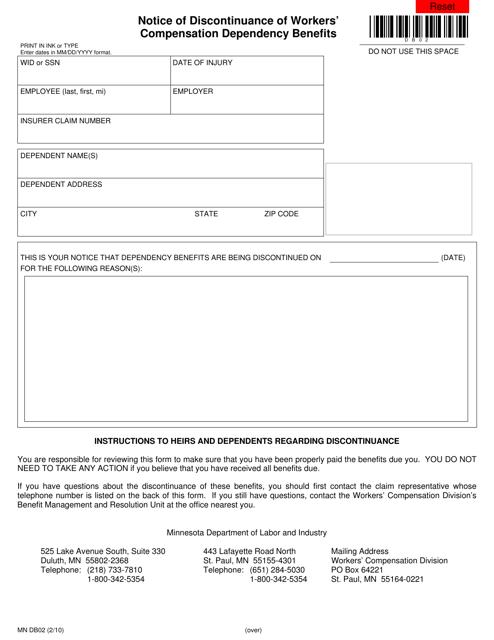 Form MN DB02  Printable Pdf