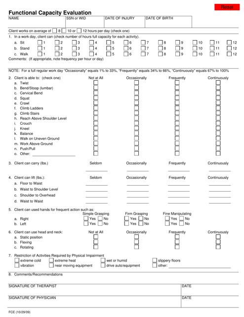 Form FCE  Printable Pdf