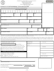 "Form PS2024-14 ""Affidavit of Repossession / Title Application"" - Minnesota"