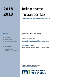 """Form CT101 """"License Application for Tobacco Products Distributors and Subjobbers"""" - Minnesota, 2019"""