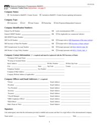 """Contractor Vendor Form"" - Minnesota"