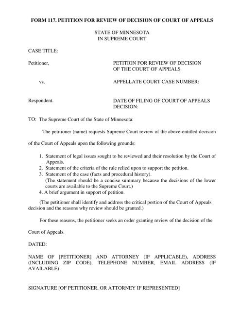 Form 117 Printable Pdf