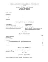 "Form 128 ""Appellant's Formal Brief and Addendum"" - Minnesota"