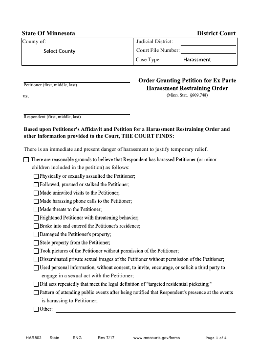 Form HAR802 Printable Pdf