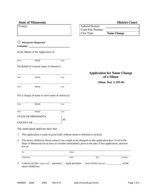 Form NAM202 Printable Pdf