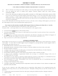 "Instructions for Form CSD202 ""Notice of Motion and Motion to Modify Child Support and/Or Spousal Maintenance"" - Minnesota"