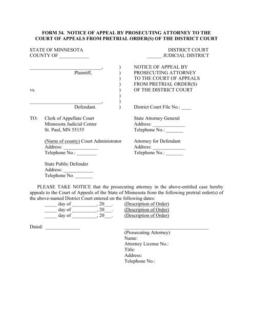 Form 34  Printable Pdf
