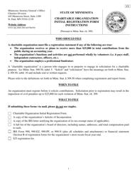 Form C 1 Charitable Organization Initial Registration Form - Minnesota
