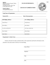 Form C 4 Change of Address Form - Minnesota