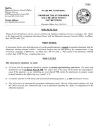 Form PFR 2 Professional Fundraiser Solicitation Notice - Minnesota