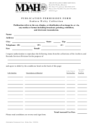 """Publication Permission Form - Eudora Welty Collection"" - Mississippi"