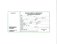 "Form 402 ""Miscellaneous Laboratory Bxamination Request"" - Mississippi"