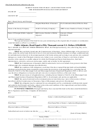 """""""Surety Bond for Public Adjuster Filed With the Mississippi Insurance Department"""" - Mississippi"""