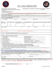 """Form DR-11 """"Initial Reporting Form"""" - Mississippi"""