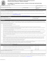 Form MO 500-2445 Statement of Nonpublic School Consultation and Participation Title I, Part a - Missouri
