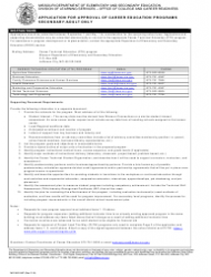 Form MO 500-2457 Application for Approval of Career Education Programs - Secondary/Adult Only - Missouri