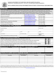 "Form MO500-3069 ""50/50 Career Education Equipment/Educational Resource(S) Information"" - Missouri"