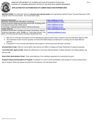 "Form MO500-1304 (FV-4) ""Application for Authorization of Career Education Expenditures"" - Missouri"