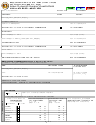 "Form MO580-2994 ""Child Care Enrollment Form"" - Missouri"